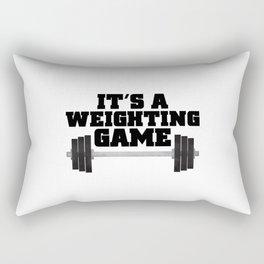 It's A Weighting Game Rectangular Pillow