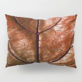 MACHO MANS ART OLD LEATHERY BROWN LEAF Pillow Sham