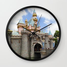 Sleeping Beauty's Castle (Daytime, no.3) Wall Clock