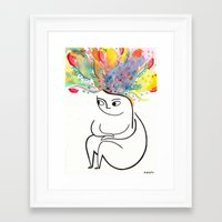 rubyetc Framed Art Prints featuring inside and out by rubyetc