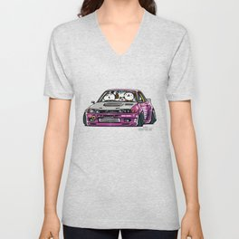 Crazy Car Art 0141 Unisex V-Neck
