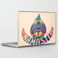 namaste Laptop & iPad Skins featuring Namaste by Ashley Baptiste