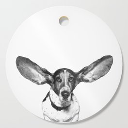 Black and White Dog Ears Cutting Board