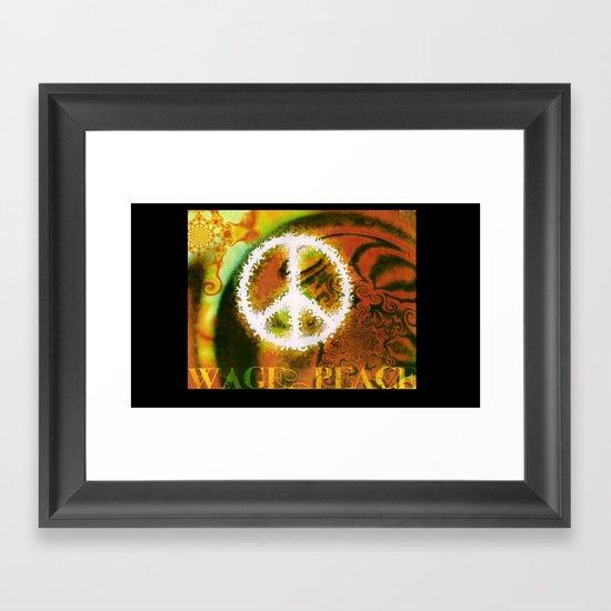 WAGE PEACE Framed Art Print