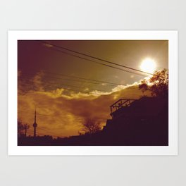 tower glare Art Print