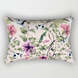 Cranes in the exotic garden Rectangular Pillow