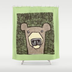 dack the bear Shower Curtain