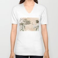 literary V-neck T-shirts featuring Flowers for Alderaan by Eric Fan