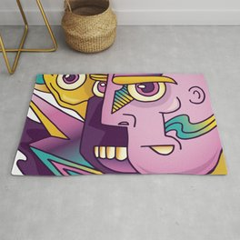 Abstract Monster Rug