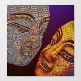two buddhas Canvas Print
