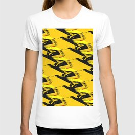 URBAN STREET CAMO YELLOW AND BLACK OLIVE GREEN DESIGN T-shirt