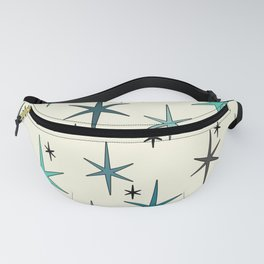 Mid Century Modern Star Sky Turquoise Fanny Pack