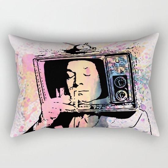 tv man Rectangular Pillow