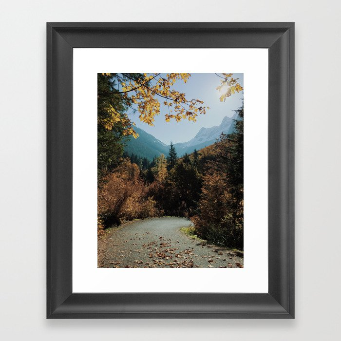 Washington Fall Rd Framed Art Print