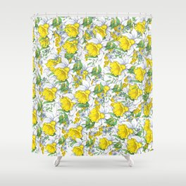 Yellow Daffodils Blooms Shower Curtain