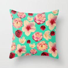Sweet flower Blast! Throw Pillow