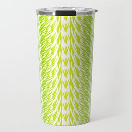 Texture of grass. Imitation of grass from strips for fabric or decor. Travel Mug