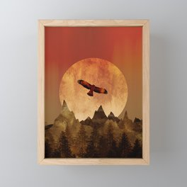 Eagle mountains Framed Mini Art Print
