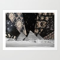 egypt Art Prints featuring Egypt by Mrs Araneae