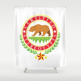 California Certified Stereotypes Flag Shower Curtain