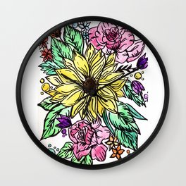 Flowing Garden Wall Clock
