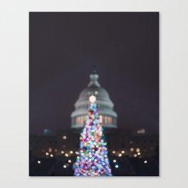 A Capitol Christmas Canvas Print