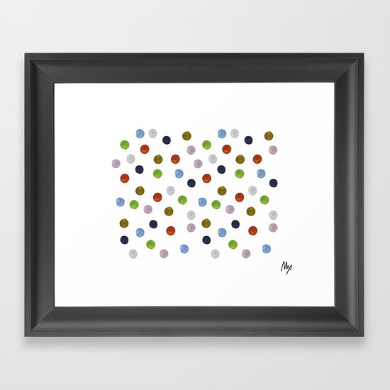 Pinpoint Dots Framed Art Print