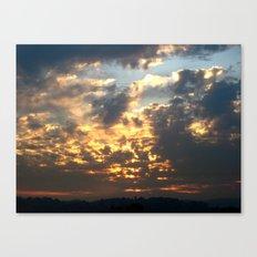 Bruins Sunset Canvas Print