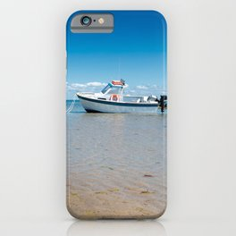 boat on sand iPhone Case