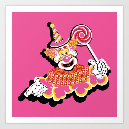 Retro Clown Art Print