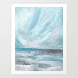 Trust - Dark and Moody Seascape Art Print