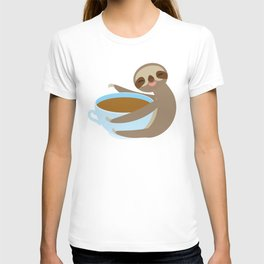 sloth & coffee 2 T-shirt