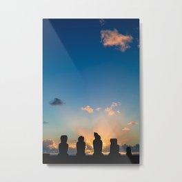 Easter Island's Moai Metal Print