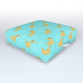 Just Ducky - yellow rubber ducks Outdoor Floor Cushion
