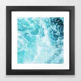Perfect Sea Waves Framed Art Print