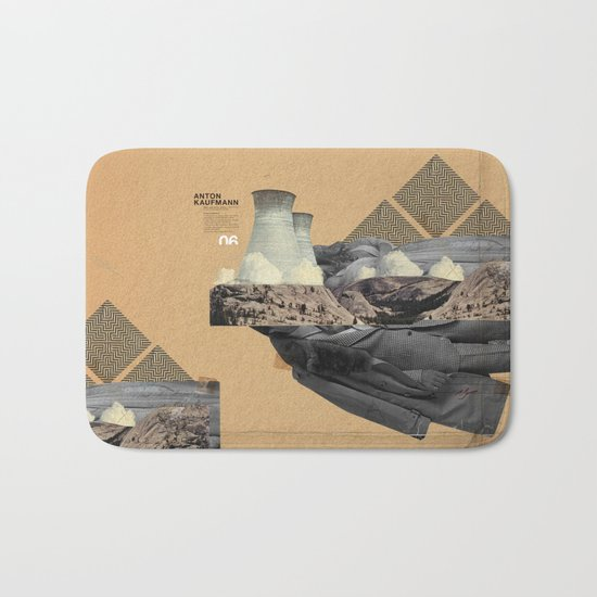 The future a time to reminisce. (mixed media) Bath Mat