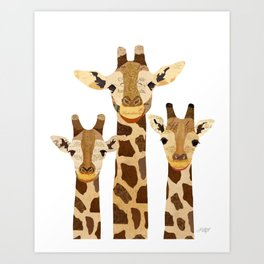 Giraffe Collage Art Print