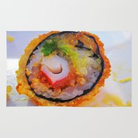 sushi Area & Throw Rugs featuring Sushi by Gio Garcia
