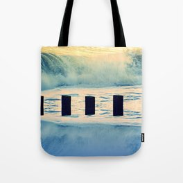 Surf breaker Tote Bag