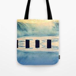 Surf breaker Tote Bag