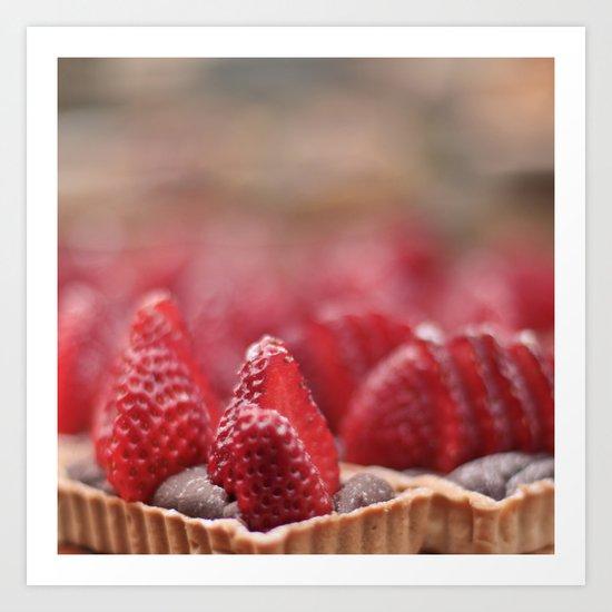 Strawberry Dessert Art Print