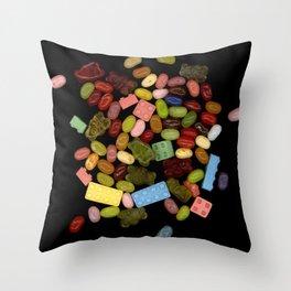 Candy Splash Throw Pillow