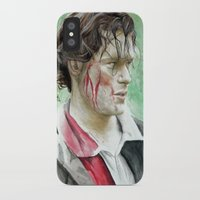 outlander iPhone & iPod Cases featuring James Fraser by Livia Pascu