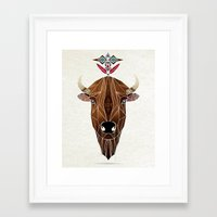 bison Framed Art Prints featuring bison by Manoou