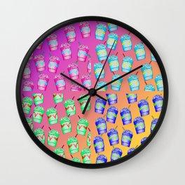 Iced Coffee Pattern Wall Clock