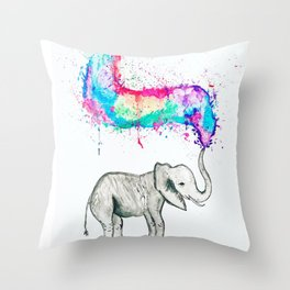 Spray of colour! Throw Pillow