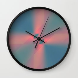 Serene Conflict Wall Clock