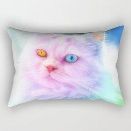 Unicorn Rainbow Cat Rectangular Pillow