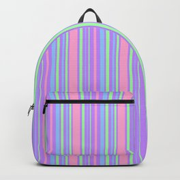 Pastel Colorful Lines Backpack
