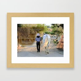 The Cowgirl's Prayer Framed Art Print